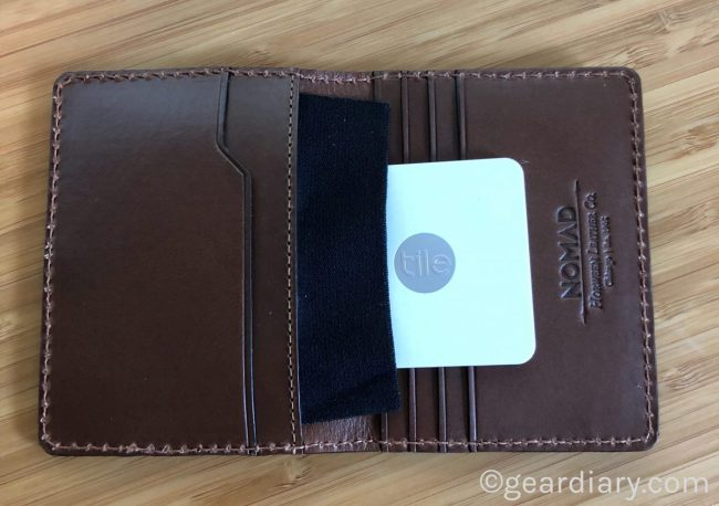 Nomad Slim Wallet with Tile Tracking Keeps Your Stuff, Won't Get Lost