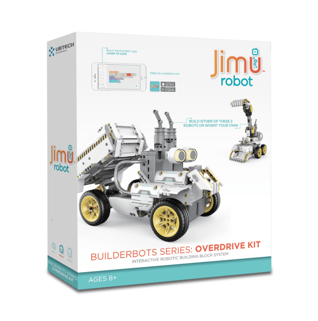 UBTECH JIMU Robot BuilderBots Series Overdrive Kit Lets You Build the Start of Your Robot Army