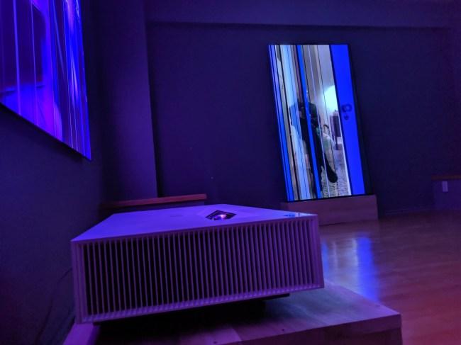 LG Announces their Ultra Short Throw 4K Projector in LA with David Van Essen's Fragmented Art