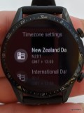 Urban watch face offers second time-zone customization