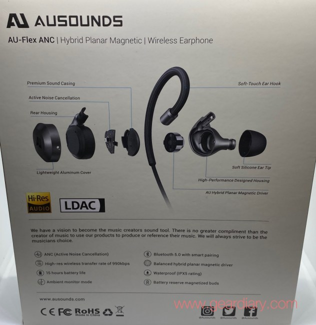 AU-Flex ANC Wireless Neckband Earphone Deliver ANC, Comfort and Great Sound