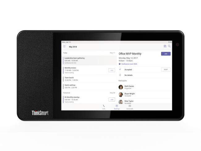 Lenovo Takes Video Conferencing to a New Level with ThinkSmart View