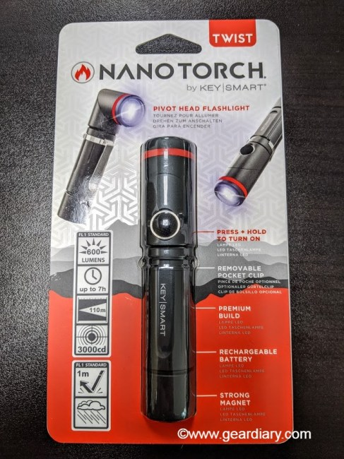The KeySmart NanoTorch Twist Lights Up the Night