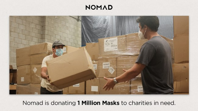 Nomad Is Donating One Million Masks to Non-Profits