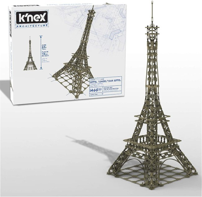 K'Nex Eiffel Tower Is an Enjoyable but Challenging Model Building Project