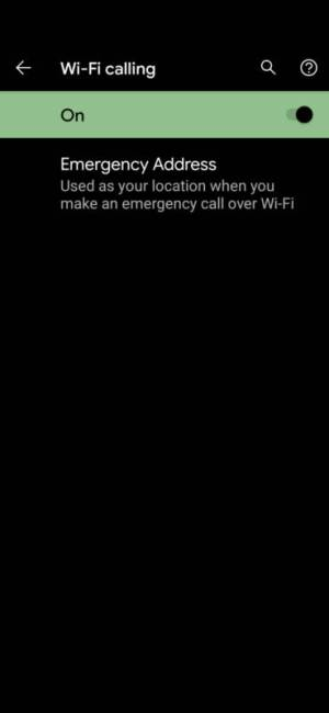 Google Pixel 5 Wi-Fi Calling on AT&T