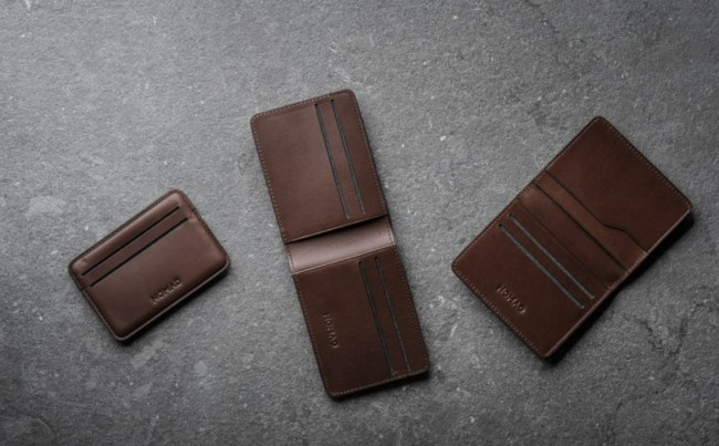 Nomad leather wallets