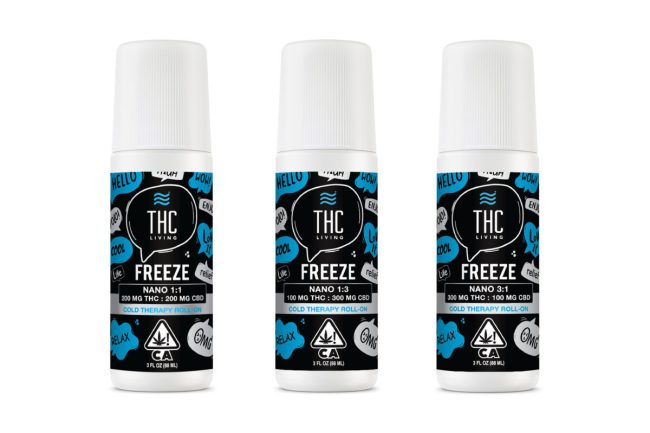 THC Living Freeze Cold Therapy Roll-On