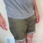 Side of LIVSN Flex Canvas Shorts