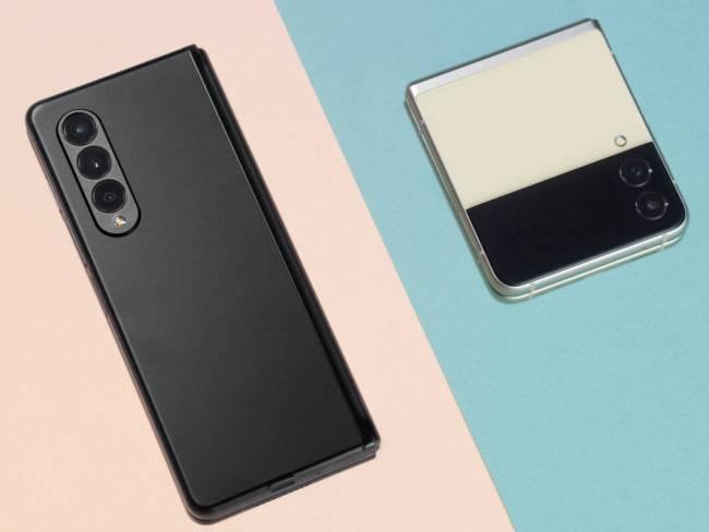 Samsung Galaxy Z Fold3 5G and Galaxy Z Flip3 side by side