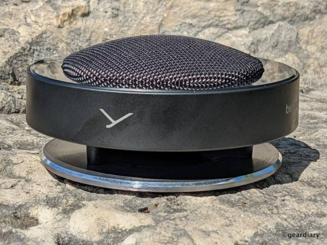Sideview of the Beyerdynamic PHONUM Wireless Bluetooth Speakerphone