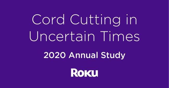 Roku Releases a Study About Cord-Cutters and Their Budgets