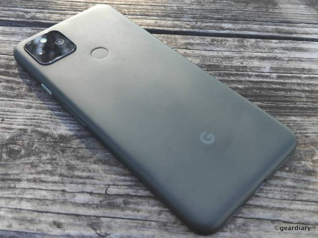 The back of the Google Pixel 5a.
