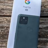 The Google Pixel 5a box