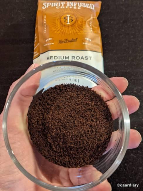 Fire Department Coffee Salted Caramel Bourbon ground coffee.