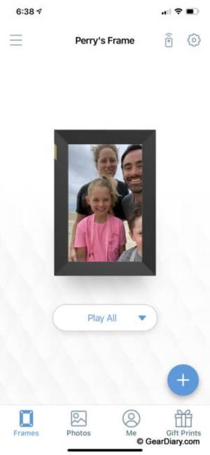 The Nixplay app.