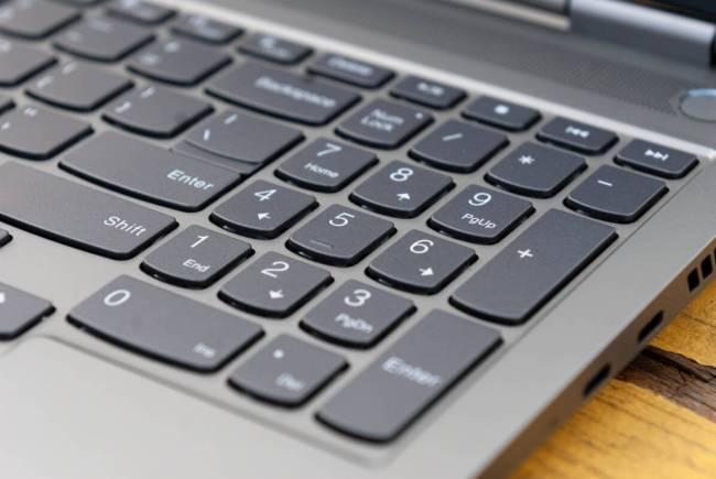 Lenovo ThinkBook 16p Gen 2 numberpad.