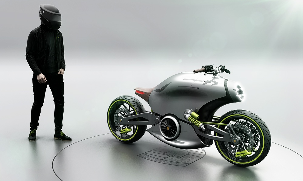 The All-Electric Porsche Motorcycle–In Your Dreams