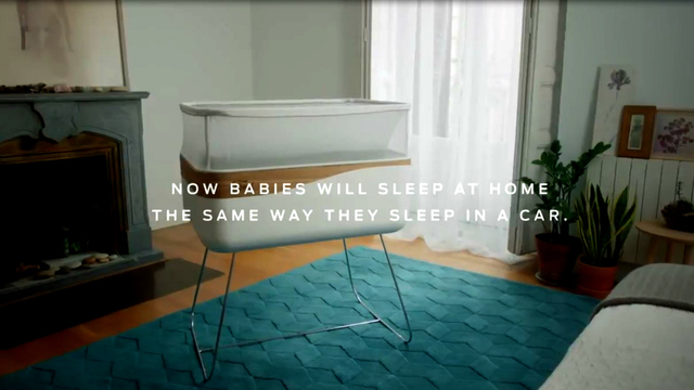 A Baby Crib That Simulate Riding in the Car–We've All Done it!