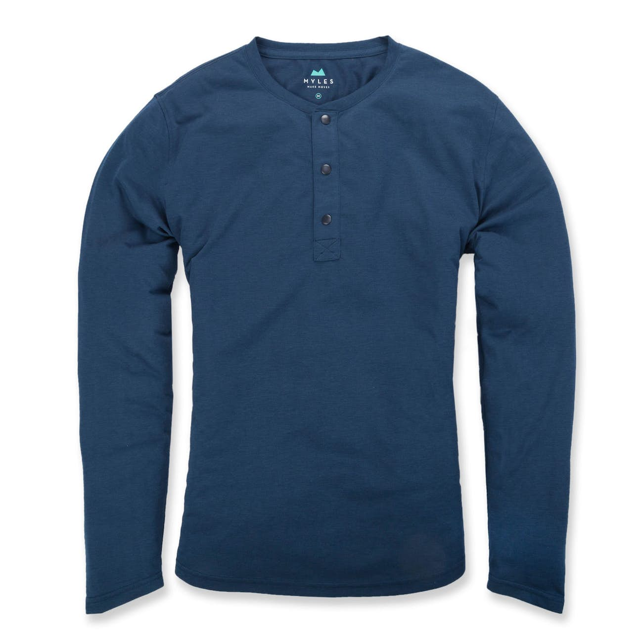 myles everyday henley blue
