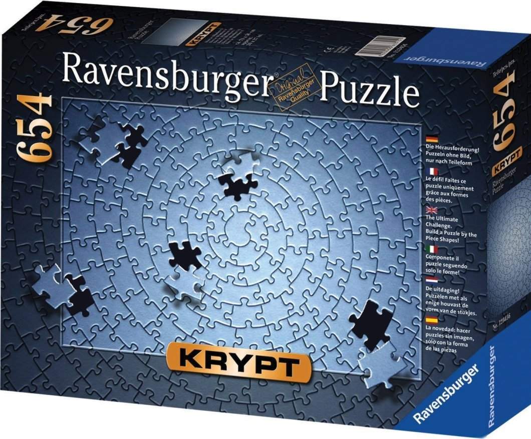"Ravensburger Silver ""Krypt"" Puzzle – This is Not a Sissy Level Puzzle"