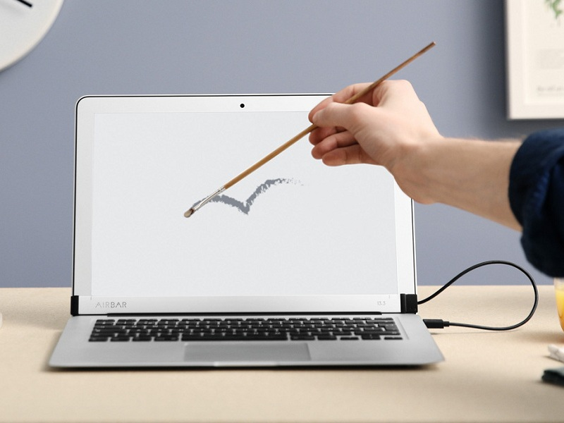 AirBar: Turn Your MacBook Air into a Convenient Touch Tablet