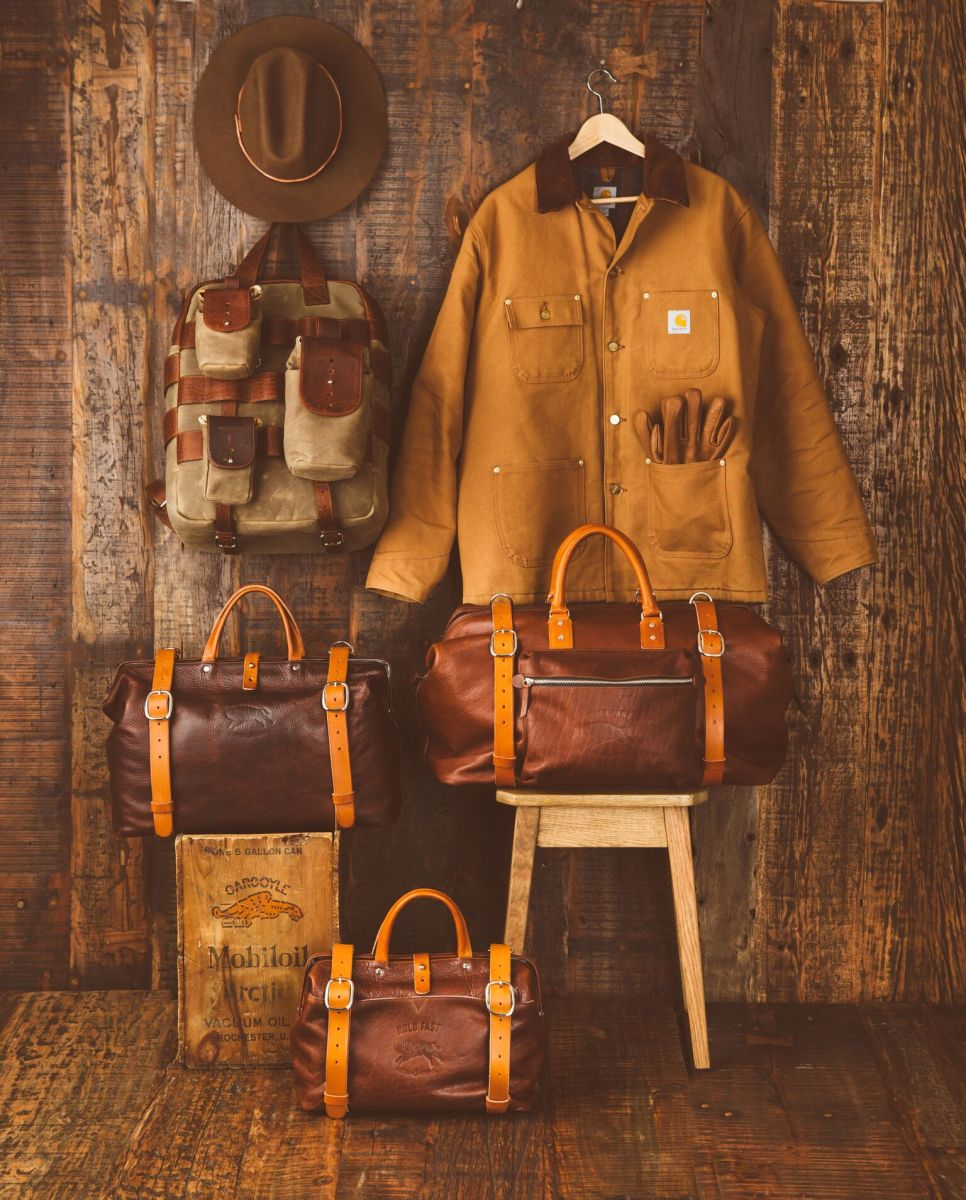Roamographer – An American Bison Leather Duffle Bag