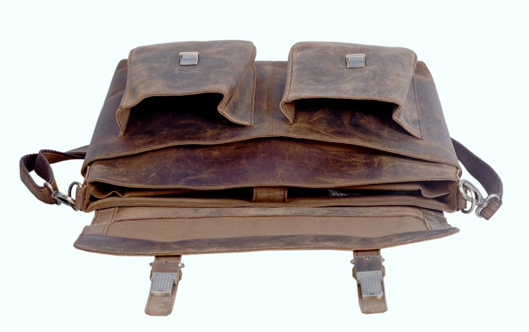 KomalC Leather Briefcase: A Leather Briefcase You Can Actually Afford