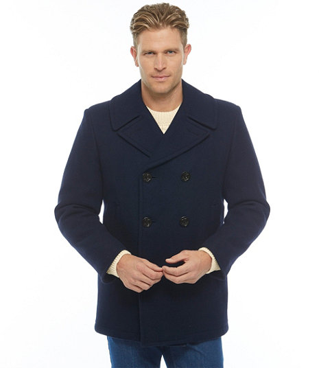 On Sale: This L.L. Bean Peacoat Is The Last Wool Jacket You'll Ever Need