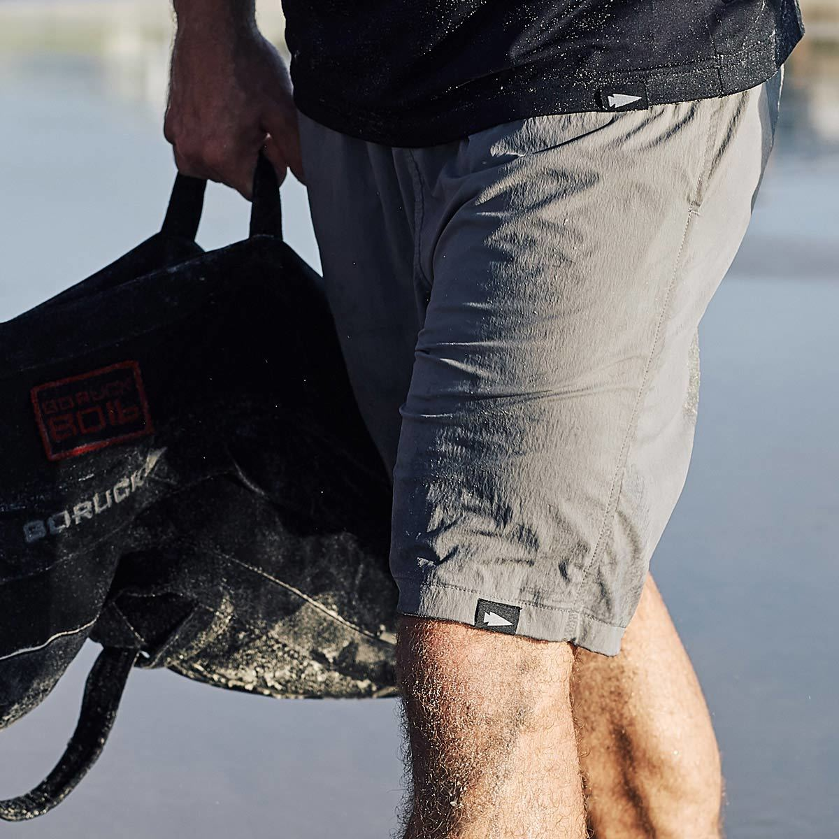 goruck gym shorts grey