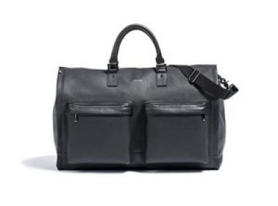leather garment weekender