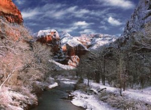 zion winter backpacking