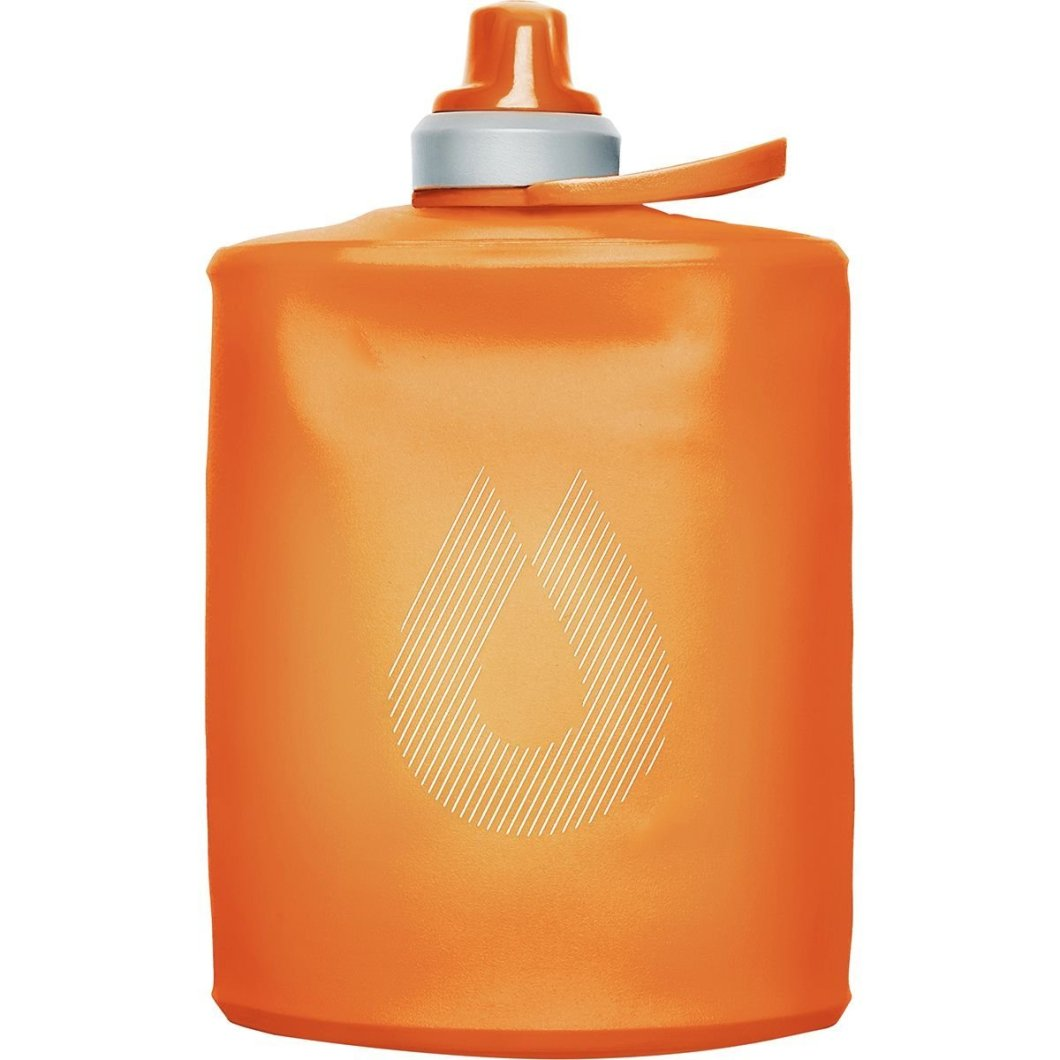 The HydraPak Stow Flexible Water Bottle Rolls Up When Empty
