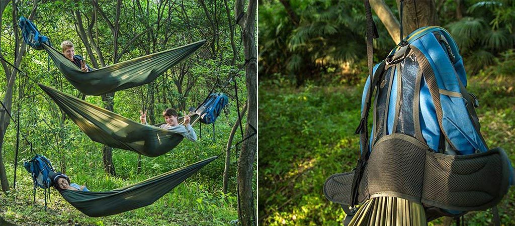 HackedPack: The Hammock Backpack Hybrid