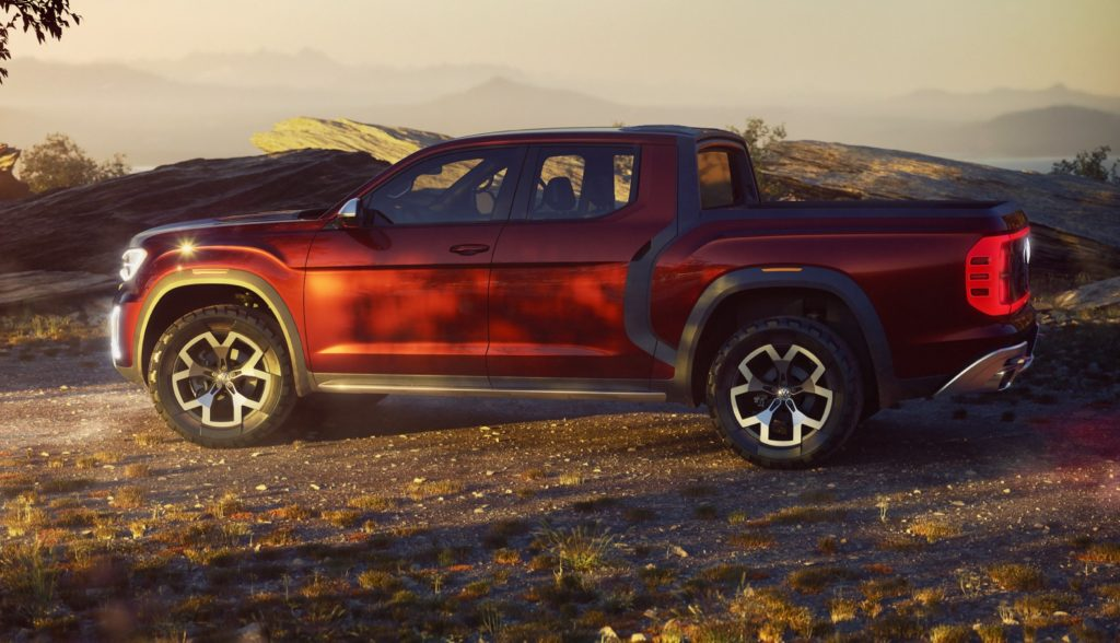 VW Shows Off The Atlas Tanoak Pickup – But They're Not Actually Making It