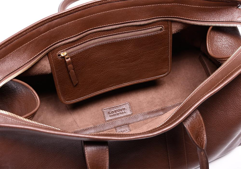 This Beautiful Lotuff Leather Duffle Travel Bag Is Handmade in America