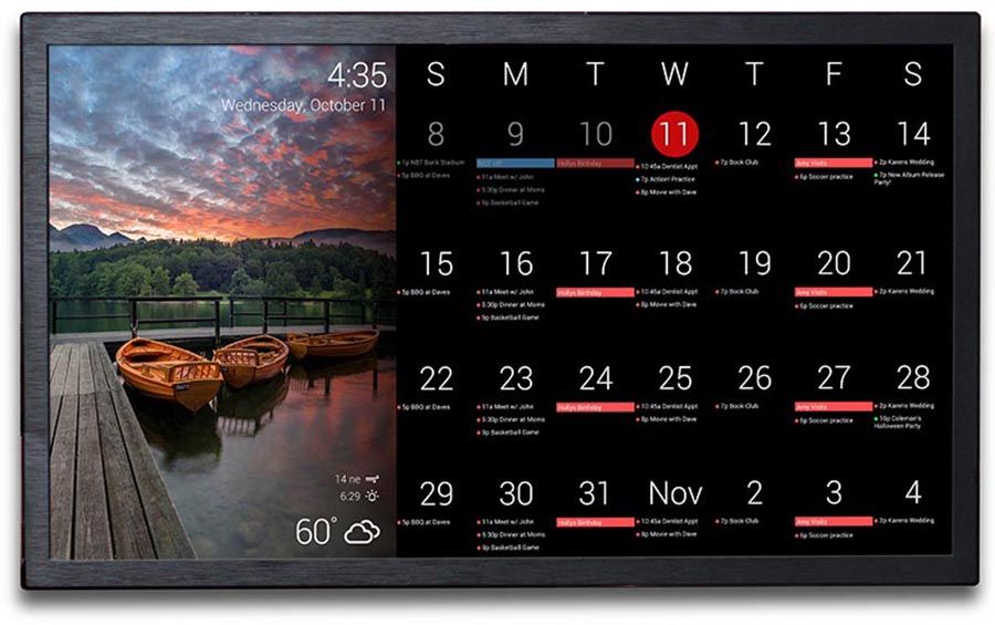 The Dakboard V2 Wall Display Is A Beautiful Electronic Calendar