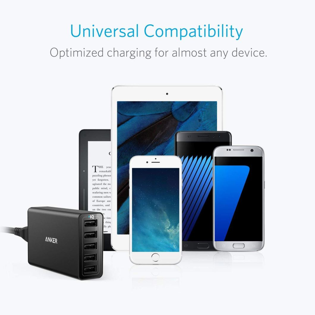 Don't Worry About Charging Ever Again With the Anker 5-Port USB Wall Charger