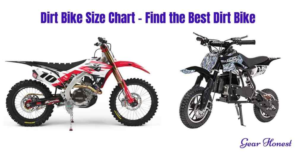 dirt bike size chart