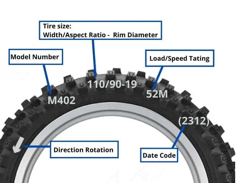 dirt bike tire conversion chart