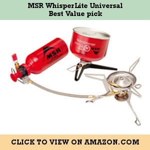 MSR WhisperLite Universal - Best value pick liquid multi-fuel stove