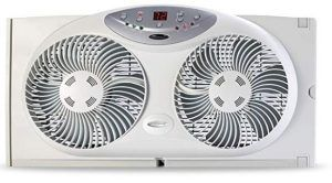 Bionaire Window Fan with Twin 8.5-Inch Reversible Airflow Blades