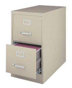 """22"""" Deep 2-Drawer Letter-Size Commercial Vertical File cabinets"""