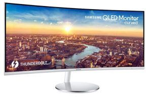 Samsung 34-Inch CJ791 Thunderbolt 3 Curved QLED Widescreen Monitor