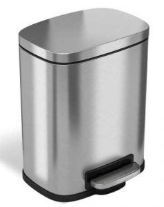 iTouchless SoftStep 1.32 Gallon Stainless Steel Step Trash Can