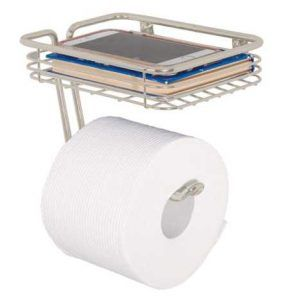 mDesign Toilet Tissue Paper Holder