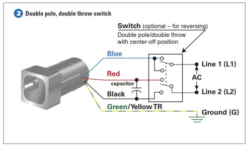 How To Connect a Reversing Switch to a 3 or 4Wire (PSC) Gearmotor | Bodine Electric Gearmotor Blog