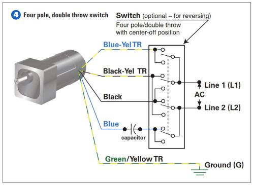 How To Connect a Reversing Switch to a 3 or 4Wire (PSC
