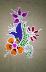rangoli designs flower