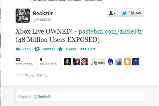 Xbox Live Has Been Hacked More Than 48 Million Account Details Posted Rumor